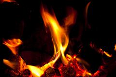 Close-up of fire and flames - stock photo