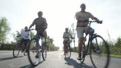 Retirees biking Stock Footage