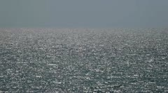 Ocean at Large Horizon over Water - Seascape Stock Footage