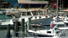 Docked and waiting Stock Footage