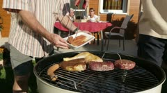 Close up barbecue garden Stock Footage