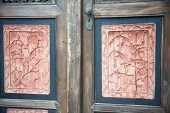 Chinese old wooden door Stock Photos
