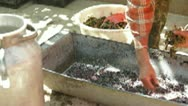 Home Winemaking Stock Footage