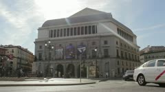 Teatro Real - stock footage