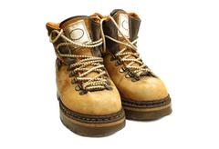 old yellow boots - stock photo