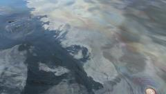 Oil Slick Stock Footage