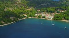 Island Lopud aerial Stock Footage