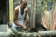 Wood chopper Stock Footage