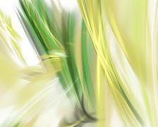 yellow green fractal - stock illustration