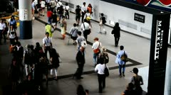 People walking at Shibuya subway station Stock Footage