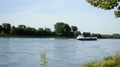 Boat on the Rhine Stock Footage