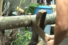 Firewood chopper Stock Footage