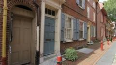 Elfreth's Alley Philadelphia, Pennsylvania Stock Footage