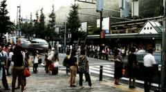 Timelapse of Harajuku street in Tokyo Stock Footage
