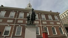 Independence Hall Philadelphia - stock footage