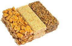 Sesame seed brittle Stock Photos