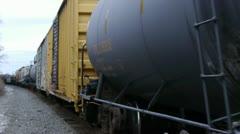 Frieght Train Highland NY 002 Stock Footage