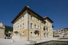 Old Austro-Hungarian hotel Jadran in Bakar - stock photo
