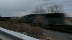 TL Frieght Train Highland NY 001 Stock Footage