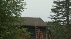 Roofer Working - stock footage