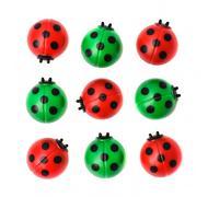 Group of ladybugs, isolated on white background Stock Photos