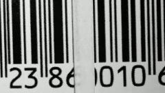 Bar Code - stock footage