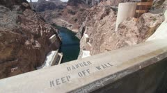 Hoover Dam Beauty Shots Stock Footage
