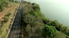 Aerial Shot Of A bridge and River Stock Footage
