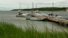Docked boats Cape Cod Stock Footage