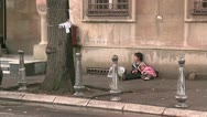 Children Beggars Stock Footage