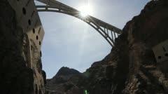 Hoover Dam Beauty Shots Stock Footage