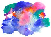 Multi-coloured spot, watercolour abstract hand painted background Stock Photos