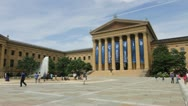 Stock Video Footage of Philadelphia Museum of Art