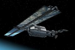 Telecommunication Satellite - stock illustration