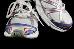 athletic shoes - stock photo
