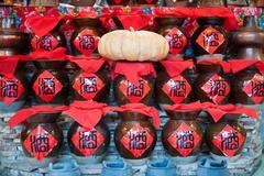 Stock Photo of china wine jars