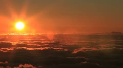 Sunset time lapse from the top of Haleakala on the island of Maui, Hawaii - stock footage
