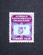 France - CIRCA 1958: A Stamp printed in France shows timbre-taxe, circa 1958 - stock photo