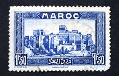 A stamp printed in Morocco Stock Photos