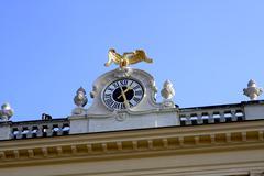 Clock in Schonbrunn Vienna Stock Photos