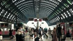 Milano Train Station Stock Footage
