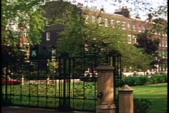 18th century Georgian square, London, England Stock Footage