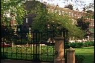 18th century Georgian square, London, England Stock Footage