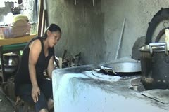 rural woman cook - stock footage