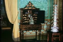 A chinese cabinet in the Brighton Pavilion, Brighton, England - stock footage