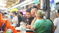 Patong market in Bangkok Stock Footage