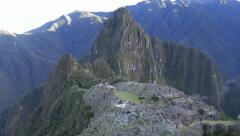 Stock Video Footage of sunrise in Machu Picchu in mist, Cusco, peru, Southamerica
