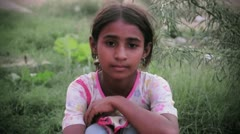 Innocent little girl, Pakistan Stock Footage