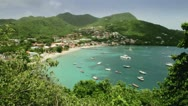 Stock Video Footage of Caribbean Bay Petit Anse D'Arlet Martinique
