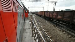Railway cargo 29 Stock Footage